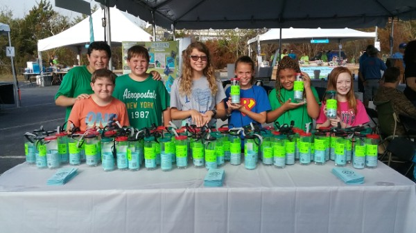 CoastFest distributing Fishing Line Recycling Containers