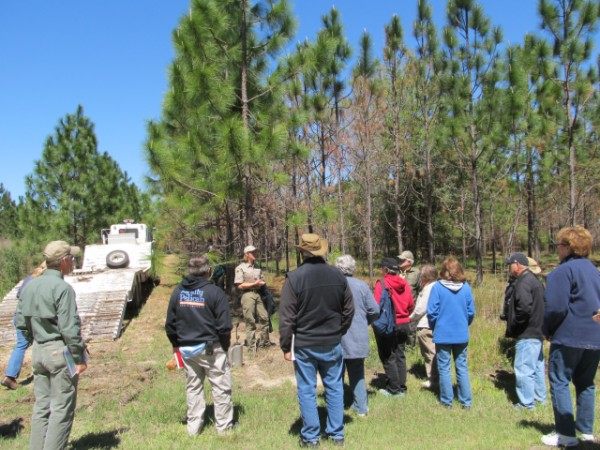 Master Naturalist Class learning from Georgia Forestry Commission Staff