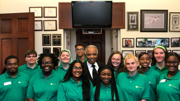Cobb 4-H'ers In Washington  D.C. With U.S. Representative David Scott