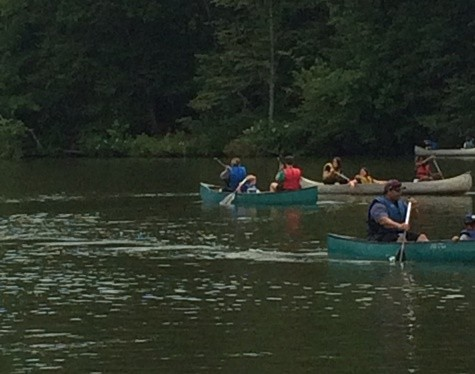 Canoeing at Rock Eagle Summer Camp
