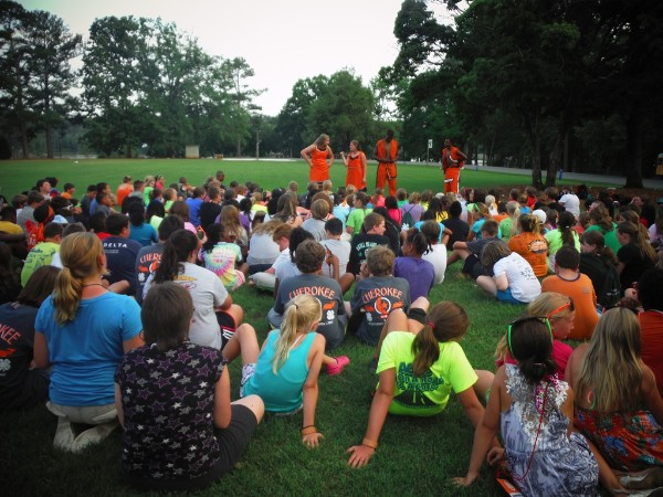 2013 Cloverleaf Summer Camp story hour with counselors