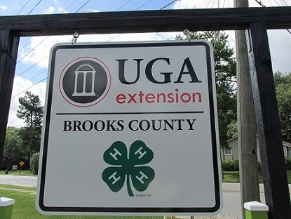 Brooks County Extension roadside sign