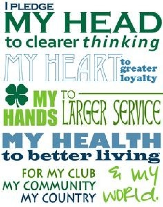 photograph regarding 4-h Pledge Printable called 4-H Youth Progress Elbert County