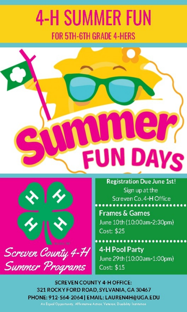 4-H Family Fun Summer Challenges