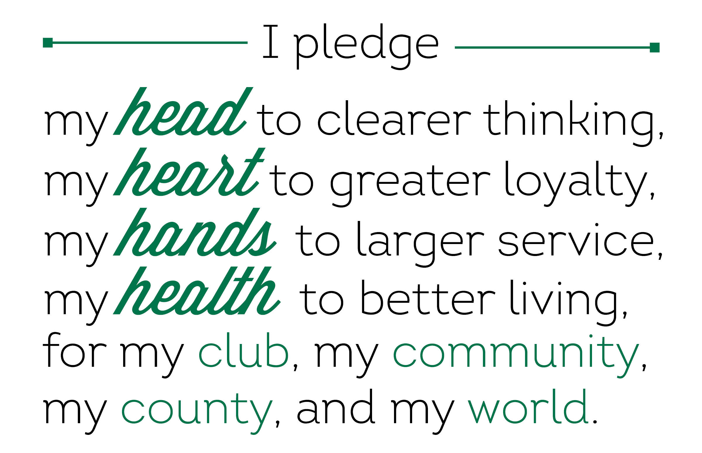 Clean image within 4-h pledge printable