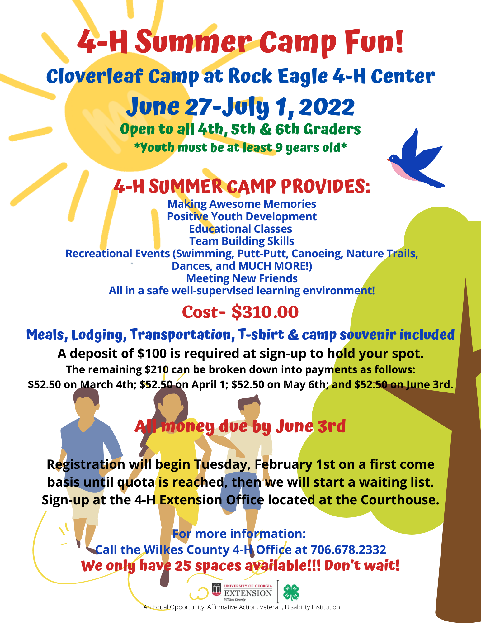 Three Camping Opportunities for Junior